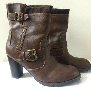 Guess - Brown Buckle Ankle Bootie - NWOT